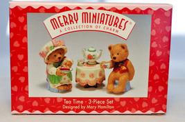 Hallmark: Tea Time - 3 Piece Set - Merry Miniatures Collection - $12.86