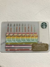 Starbucks Gift Card - NEW - BIRTHDAY CAKE WITH CANDLES 2016 - TEN CANDLES - $1.19