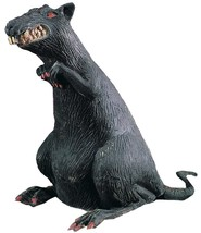 """Rubies Rubber Standing Rat With Red Eyes Decoration Prop, Black - 18"""" - $20.17"""