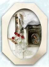 First Communion Candle Gift Set Girl English Rosary Hadmade Lady of Guad... - $32.62