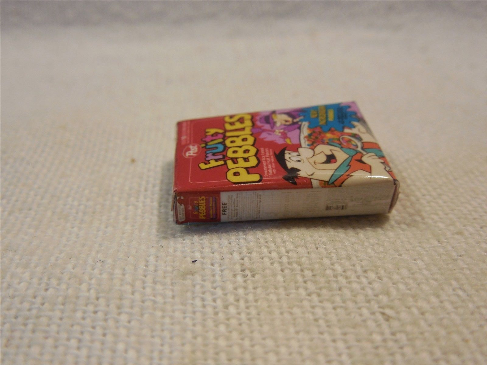 "Flintstones Dollhouse Small 1"" Fruity Pebbles Cereal Box"