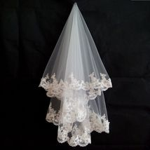 New Arrival White /Ivory Wedding Veils With Comb For Bridal Lace Veils W... - $14.50+
