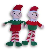Holiday Christmas Boy Girl Elf Plush Doll Bundle - 14 Inches Tall - $12.84