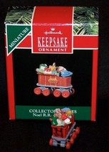 Hallmark 1990 Coal Car Noel R.R. Series #2 Artist Signed Miniature Ornament - $9.95