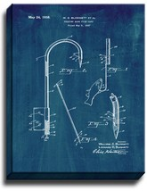 Gaff for Fishing Patent Print Midnight Blue on Canvas - $39.95+