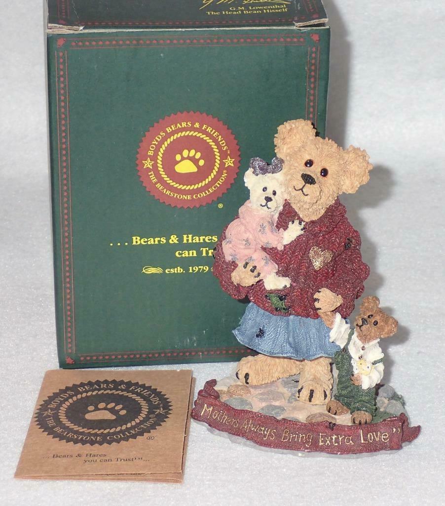 Boyd Bearstone Resin Bears Mother Macabeary With Krista & Cody Figurine #227737 image 3
