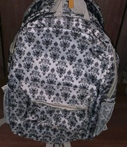Disney Parks Exclusive Backpack Haunted Mansion Gray Creepy Wallpaper New - $46.48