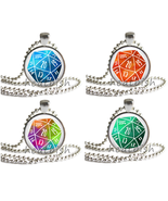 d20 DICE DIE Glass Photo Pendant Accessory - Dungeons and Dragons Geek N... - $9.95