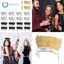 New Year Party Tiaras - 24-Pack Fun Festive Headband, Happy Glitter Desi... - €13,06 EUR