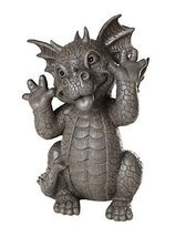 Garden Dragon Taunting Dragon Garden Display Decorative Sculpture Stone ... - €34,71 EUR