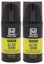 2Pack M. Skin Care Replenish All Day Facial Serum for Men, Antioxidant Rich Vita - $12.86