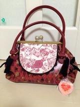 Disney Store Japan Alice in Wonderland Baby Ribbon Red purse bag tote Ha... - $141.57