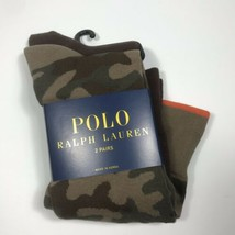 Polo Ralph Lauren Men's 2 Pack Camo Trouser sock.Olive.Msrp.$18.00.Nwt - $16.73