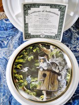 HOUSE SITTING, THE BRADFORD EXCHANGE COLLECTIBLE PLATE,1995, PERSIS WEI... - £11.56 GBP