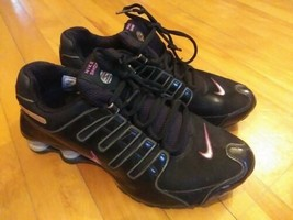 Women's NIKE Shox Running Shoes Sneakers Black Size 8.5 - $35.06