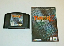 Turok 2: Seeds of Evil (Nintendo 64, 1997) N64 TESTED w Manual - $12.86