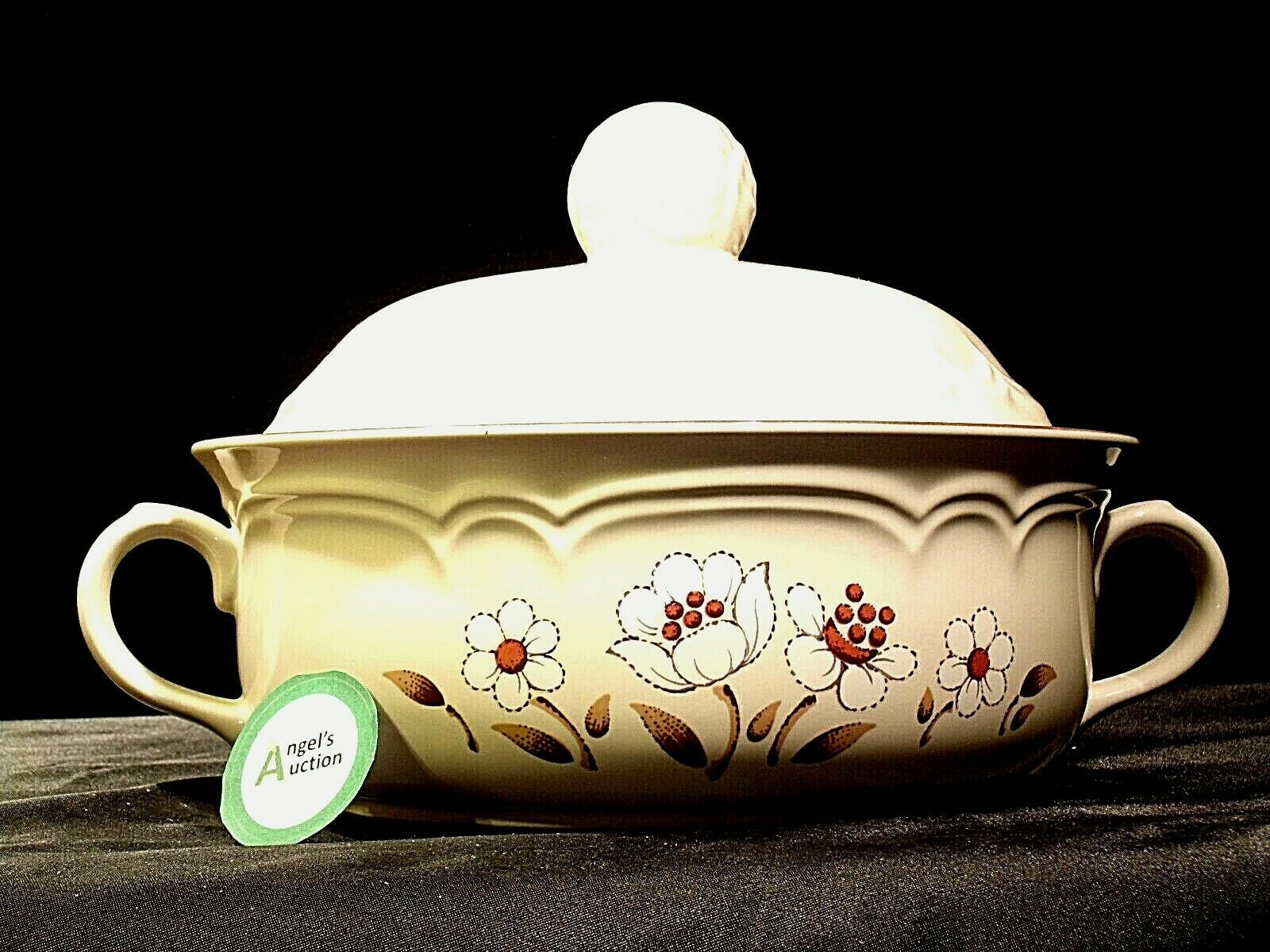 Stoneware Cumberland Mayblossom Tureen with lid by Hearthside AA-192035-G Vintag