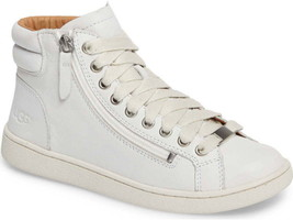 UGG Olive Leather Sneakers, White, Size 10, NIB - $95.99