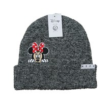 Disney Collection Neff Minnie Mouse Grey Beanie Cap Unisex One Size Fit - $24.74