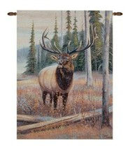 """Wall Hanging 26"""" X 36"""" Beautiful Moose Jacquard Woven Cotton Blend Tapes... - $39.73"""