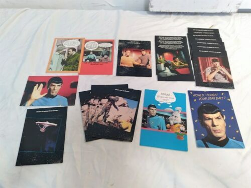 Vintage Lot 22 Star Trek Greeting Card Birthday Easter Get Well Soon Spock