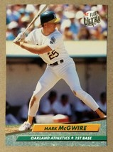 Mark McGwire Oakland A's 1992 Fleer Ultra #115 - Fast Shipping - $1.73