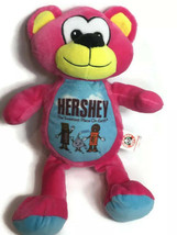 "Hershey Park Plush Pink Teddy Bear Plush Stuffed Animal Peek A Boo 15"" S... - $18.48"