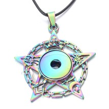 2019 New Snap Buttons Jewelry Colorful Five Star Button Snap Necklace Fi... - $8.28
