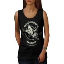 Dangerous Curves Biker Tee Garage Fun Women Tank Top - $12.99