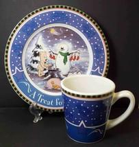 Starbucks Stoneware Bearista Bear Mug Plate Cookies for Santa set 2000 C... - $12.84