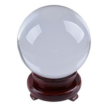 LONGWIN 150mm 5.9 inch Divination Crystal Ball Glass Globe Sphere Free W... - $56.86