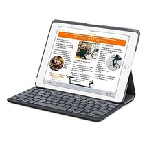Logitech Canvas Wireless Bluetooth Keyboard Folio Case Apple iPad Air 2 - Black - $39.99