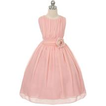 Blush Round Neck Yoryu Chiffon Flower Girl Dresses Birthday Bridesmaid W... - £27.32 GBP+