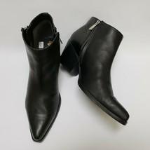 Sam Edelman Womens Shoes Booties 2 Side Zip Heels Black Size US 9.5 M EU 39.5 - $84.10
