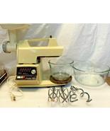 Vintage Oster Regency Kitchen Center | 10 Speed Mixer Grinder w/ Accesso... - $118.79