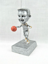 "Signed PDU Resin 5 1/2"" Boy Basketball Player Bobblehead Trophy Award - $10.95"