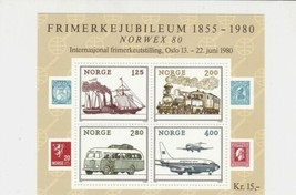 Norway 1980 Mixed Transport Mint Never Hinged Stamp Sheet ref R17755 - $7.23