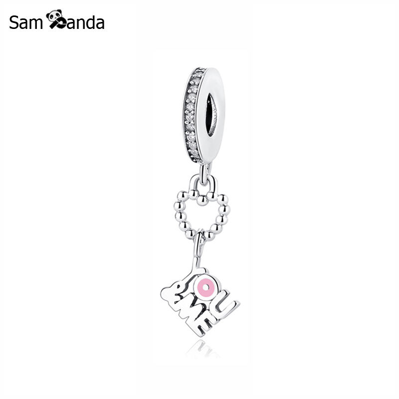 Primary image for Buy Original 100% 925 Sterling Silver Charm Bead You & Me Pendant Charms Love