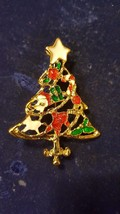 Cute Christmas Tree With Star Brooch Combined Shipping - $3.71