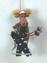 KSA Kurt Adler Moose Ornament Skis Chairlift Skiing Chair Lift 25677 - $16.82