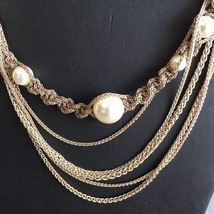 100% AUTHENTIC CHANEL CC LOGO MULTI CHAIN PEARL LONG NECKLACE GOLD LIMITED EDITI image 6