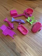 Lot Of 8 Pieces Polly Pocket Ocean Accessories - $17.45