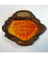 Vintage Treasure Craft Lake Tahoe CA NV  Ashtray - USA - Redish Orange o... - $7.50