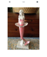 Mermaids need love too...pink mermaid on pedestal with candle approximat... - $59.99