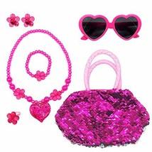 Elesa Miracle Kids Little Girl Toy Playset Sequins Handbag + Heart Sungl... - $14.27