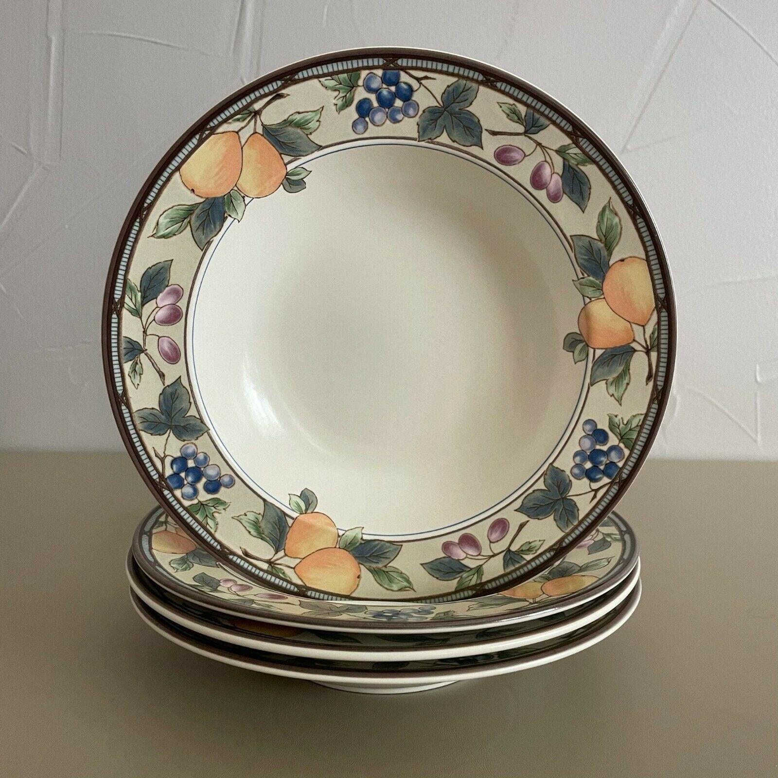 "4 - Vintage Mikasa Stoneware Intaglio Garden Harvest Salad Bowls CAC29 9.5"" Lot - $36.63"