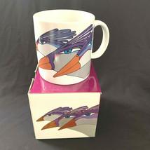 Laurel Burch Bird Coffee Mug Exotic Birds NIB 12 oz Original Box - $44.55