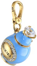 Juicy Couture Charm Crystal Cookie Jar Goldtone NEW - $97.02