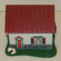 Arts & Crafts Wood Painted House Coin Bank Still Piggy Bank With Lock & Key - $29.99