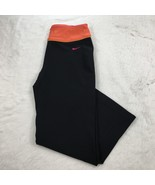 Nike Fit Dry Women's Two Tone Athletic Workout Cropped Stretch Pants Size S - $15.44